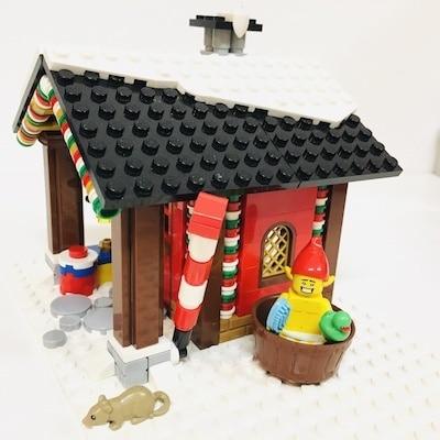 winter huette elf badewanne Kreation Lego Elfenhütte
