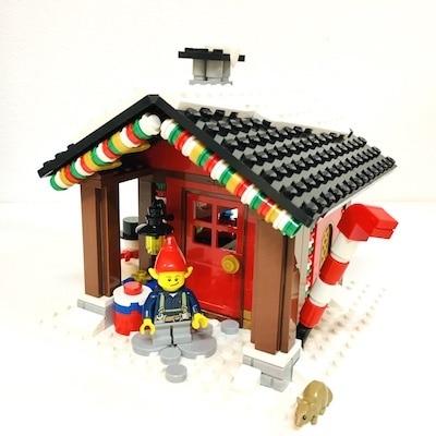 winter hütte elf Kreation Lego Elfenhütte